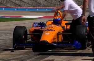 Alonso pleased after testing new Indycar on track [Video]