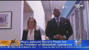 Magic Johnson Shocks With Sudden Resignation As Lakers President [Video]