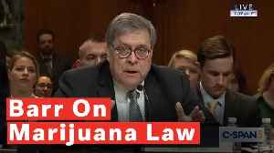 Barr Says He'd 'Favor One Uniform Federal Rule Against Marijuana' [Video]