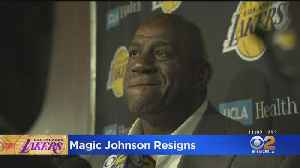 Lakers To Discuss Departure Of Magic Johnson At News Conference [Video]