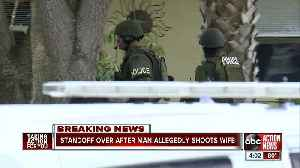 SWAT standoff over man allegedly shooting wife [Video]