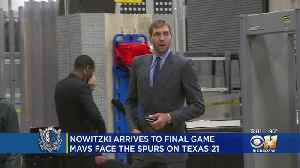 Team Coverage: Dirk Nowitzki Arrives For Final Game Of His Career [Video]