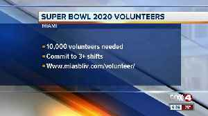 Volunteer for the 2020 Super Bowl in Miami [Video]