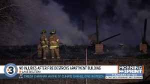 Crews respond to fire at Sauk County apartments under construction [Video]