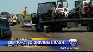 Big-rig crash closes Northbound lanes on Highway 99 in Chico [Video]