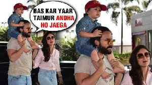 Saif Ali Khan ANGRY At Media For Taimur Ali Khan With Kareena Kapoor [Video]