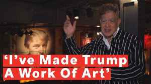 Famed 'Piss Christ' Artist Andres Serrano Creates Trump-Themed Art Show [Video]