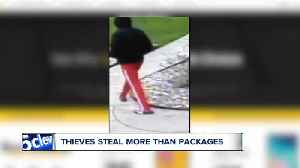 Man's identity stolen, thief sends packages to victim's house and steals them from the porch [Video]