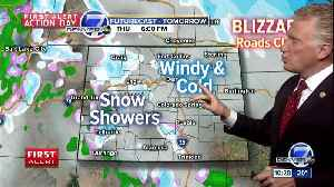 Periods of snow continue for Denver overnight; expect cold and windy weather Thursday [Video]