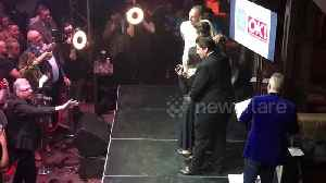 Bidder pays £500 for photo on stage with Gemma Collins and James Argent [Video]