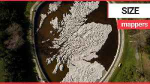 Stunning aerials show large scale concrete map of Scotland [Video]