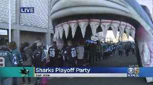 Sharks Players And Fans Gear Up For Playoff Run [Video]