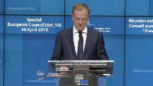 Donald Tusk: UK has six months to find Brexit solution [Video]