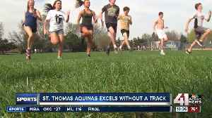 Even without a track, St. Thomas Aquinas team on a mission [Video]