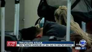Hundreds of flights canceled at DIA due to blizzard [Video]