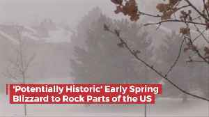 A Dangerous Spring Blizzard Is Coming [Video]