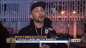 Golden Knights fans gather downtown for first game of 2019 playoff [Video]