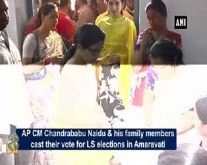 Chandrababu Naidu cast his vote along with family in APs Amravati [Video]