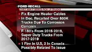Ford recalls 327K pickups again to fix engine heater cables [Video]