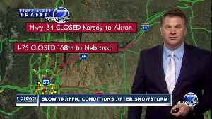 Jayson Luber 7 a.m. traffic update as snowstorm leaves Colorado [Video]