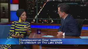 'I Get Called Out, They Don't': Rep. Omar Appears On 'Late Show' [Video]