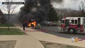 School Bus Catches On Fire At Middletown High School In New Jersey [Video]