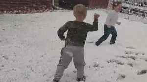 Boys Get In A Fun Snowball Fight In Loveland [Video]