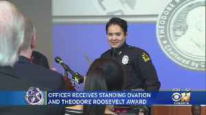 Dallas Officer Receives Standing Ovation And Theodore Roosevelt Award [Video]