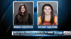 Gustafson, Carleton drafted to WNBA [Video]