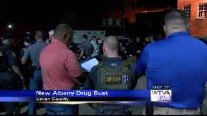 Law enforcement conduct drug roundup in New Albany [Video]