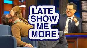 LATE SHOW ME MORE: Get Your Head In The Game! [Video]
