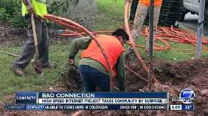 Centennial homeowners say internet installation caught them by surprise [Video]