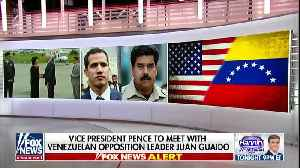 News video: Pence meets with Venezuela's Guaido after weekend of violence