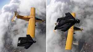 Stunning Footage Shows Wingsuit Pilot Flies Like A Bird Alongside Soaring Plane [Video]