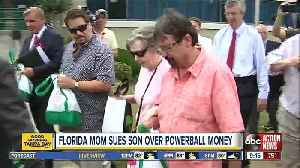 90-year-old Powerball winner sues son, says her money was invested poorly [Video]