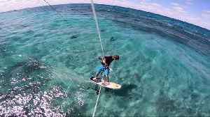 Kitesurfing with Hundreds of Sharks [Video]