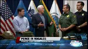Vice President Pence, Ducey meet with Border Patrol in Nogales [Video]