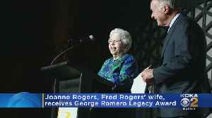 Joanne Rogers, Fred Rogers' Wife, Receives George Romero Legacy Award [Video]