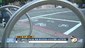 San Diego makes designated dockless scooter and bike spaces [Video]