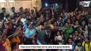 Irrfan Khan mobbed by fans on sets of Angrezi Medium [Video]