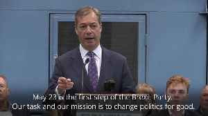 Farage launches Brexit Party: 'Our task and our mission is to change politics for good' [Video]