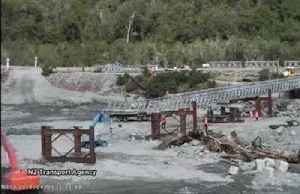 NZ rebuilds section of bridge destroyed by floodwaters [Video]