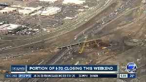 Traffic alert: Portion of I-70 will be closed this weekend [Video]