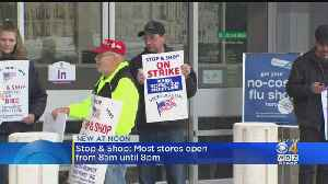 Stop & Shop Stores Open During Strike With Temporary Workers [Video]