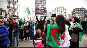 News video: Algerians take to the streets as anger mounts at interim leader