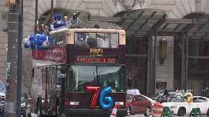 Sixers Give Away T-Shirts In Center City Ahead Of Playoff Series With Nets [Video]