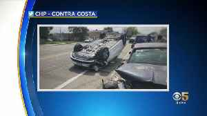 2 Kids In Car Seats Able To Walk Away After East Bay Rollover Crash [Video]
