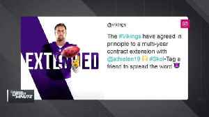 Minnesota Vikings, wide receiver Adam Thielen agree to four-year, $64-million contract extension [Video]