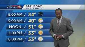 Partly sunny skies for Saturday with highs in 50s [Video]