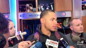 Willson Contreras on hitting 2 home runs against the Angels [Video]